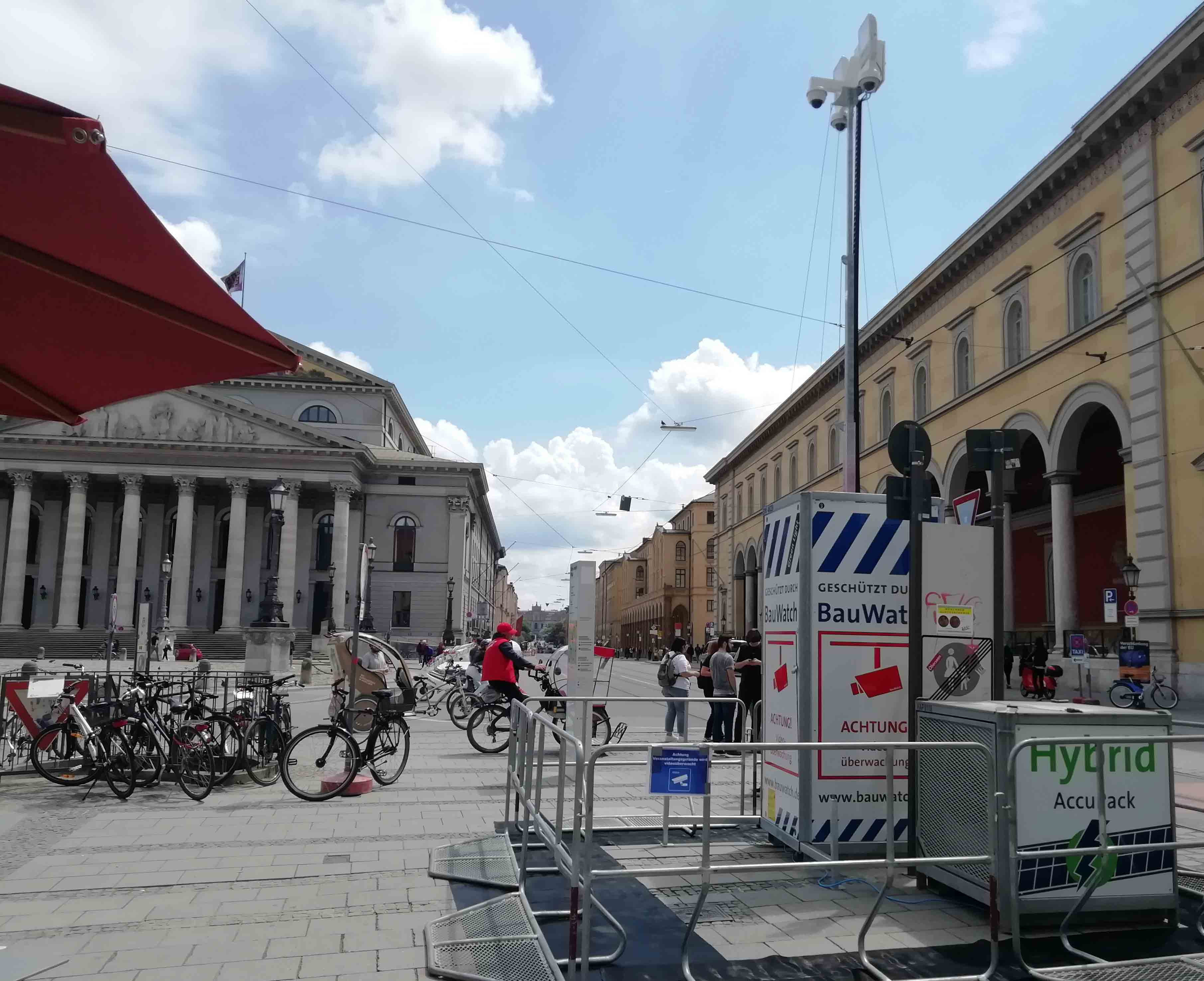 BauWatch-Videoüberwachungstum in München