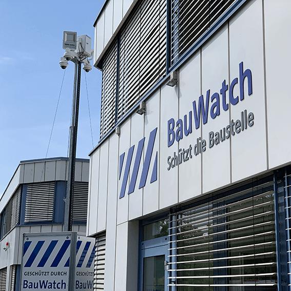 Fassade der BauWatch-Zweigstelle in Schkeuditz